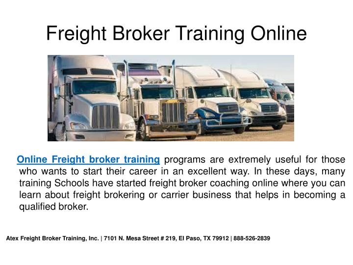 Freight Broker Training Online