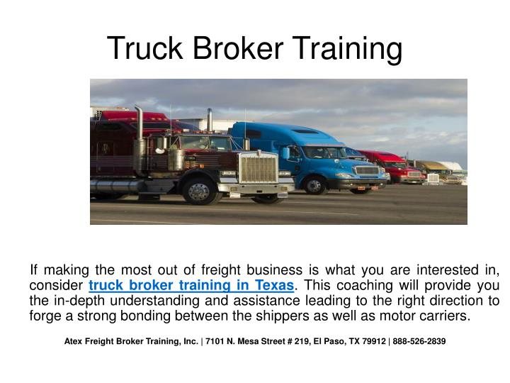 Truck Broker Training