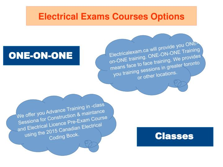 Electrical Exams Courses Options