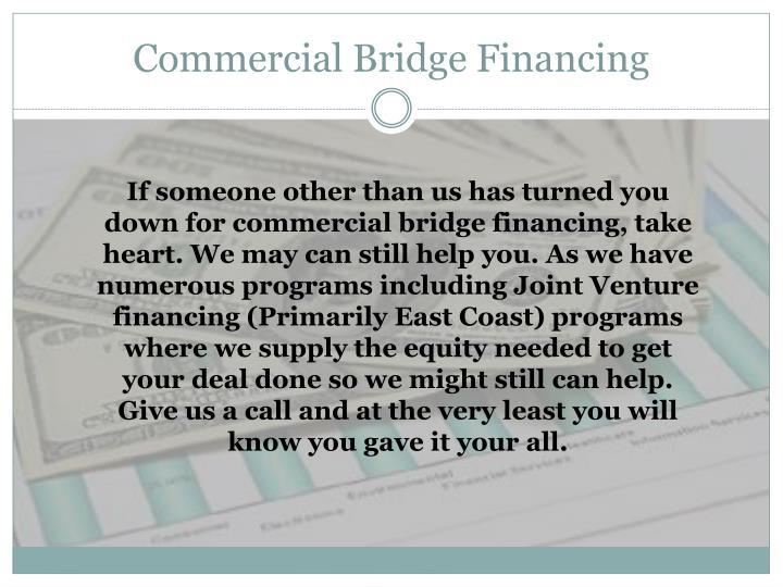 Commercial Bridge Financing