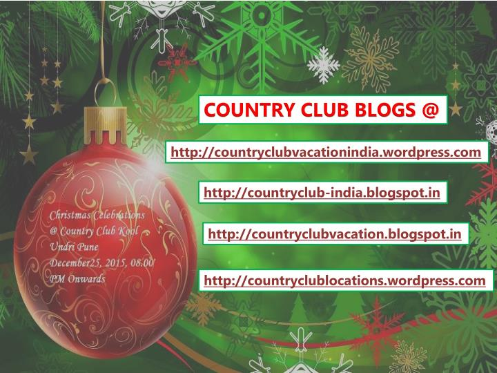 COUNTRY CLUB BLOGS @