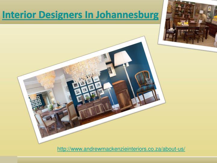 Interior Designers In Johannesburg
