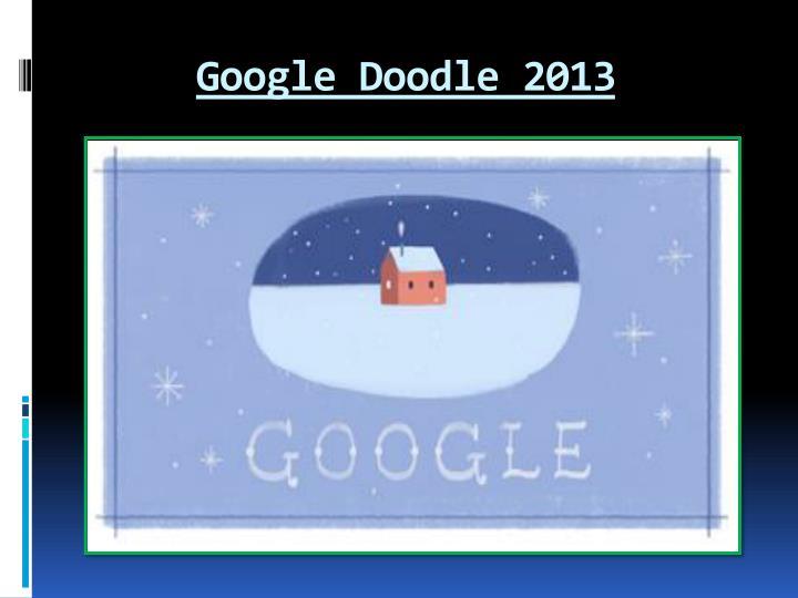 Google Doodle 2013