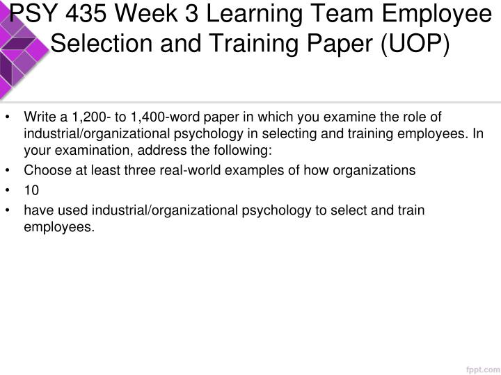 employee selection and training term paper To assist you with reviewing your existing approach to recruitment and selection, this guide addresses the selecting & appointing candidates 7 induction & training 8 employee evaluation each element of recruitment and selection has a contribution to make in helping to find the most person for the longer term.