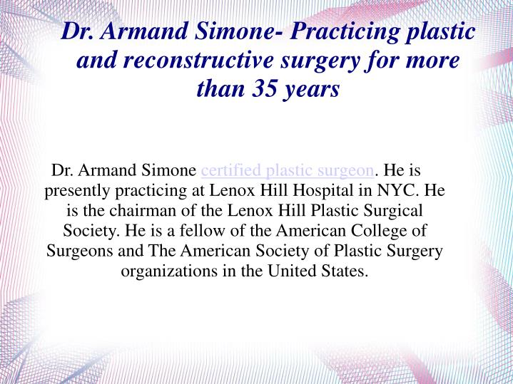 Dr. Armand Simone