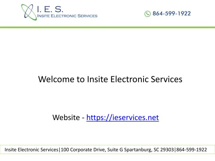 Welcome to Insite Electronic Services