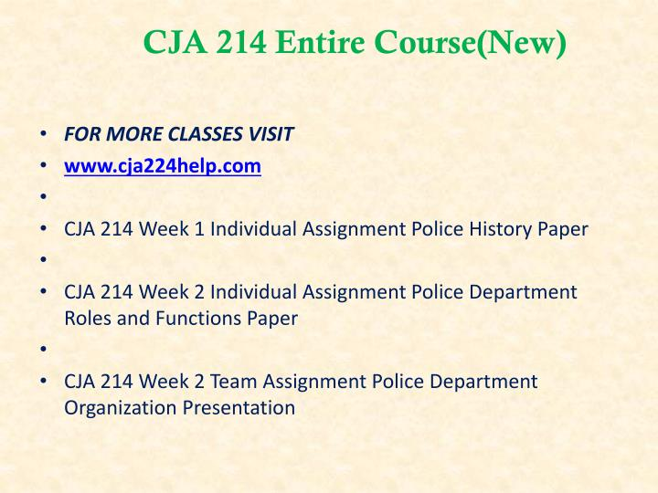 Cja 214 entire course new