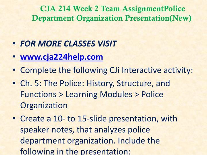CJA 214 Week 2 Team