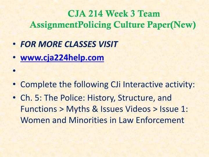 CJA 214 Week 3 Team