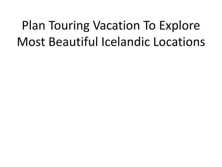 Touring business plan