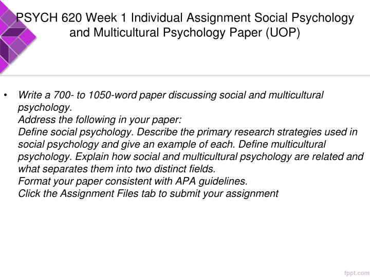 social psychology paper essay Social psychology reaction paper or any similar topic specifically for you i agree and mindful there are many suggested social therapies and resources available for students and others also there is no quick fix and a person has to want to change within themselves and work hard at not feeling.