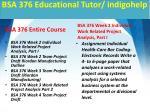 bsa 376 educational tutor indigohelp1