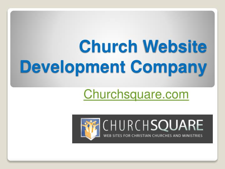 Church Website Development Company