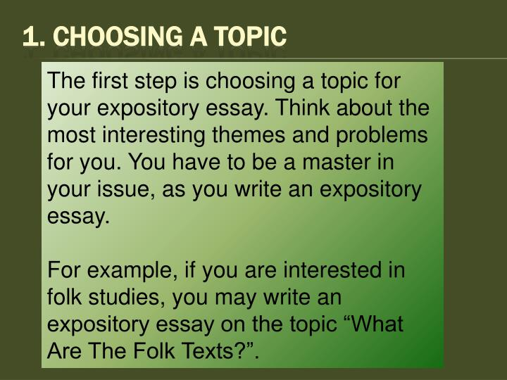 1 choosing a topic