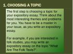 1 choosing a topic