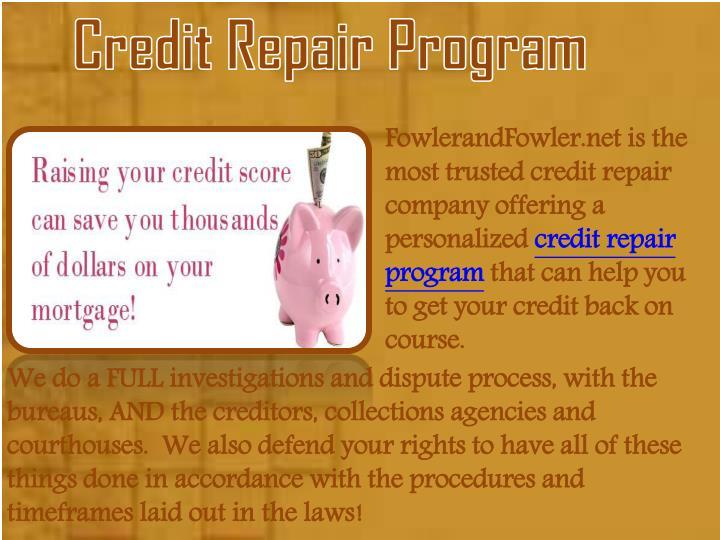 Credit Repair Program