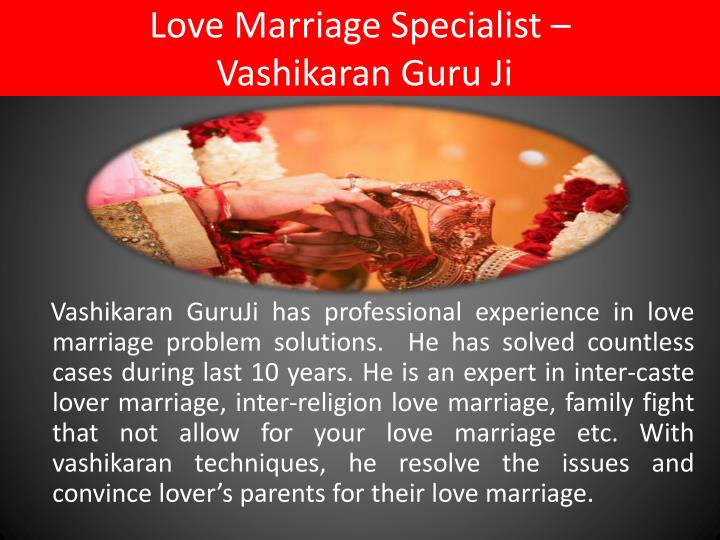 Love marriage specialist vashikaran guru ji
