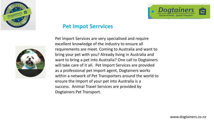 Pet Impot Serrvices