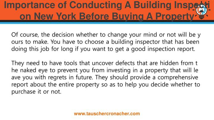 Ppt Importance Of Conducting A Building Inspection New