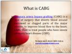 what is cabg
