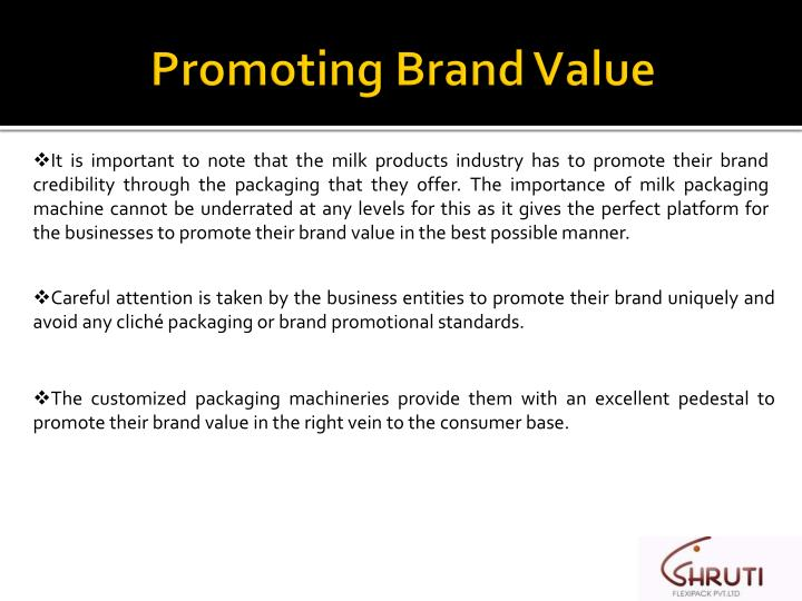 Promoting brand value