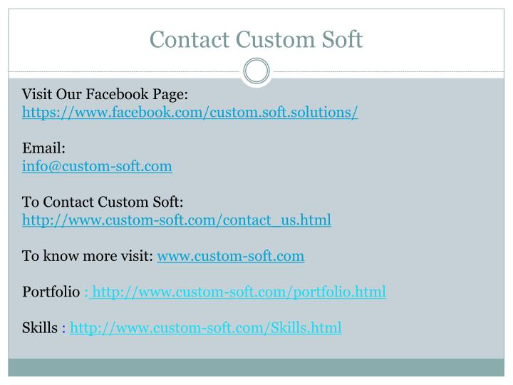 Contact Custom Soft