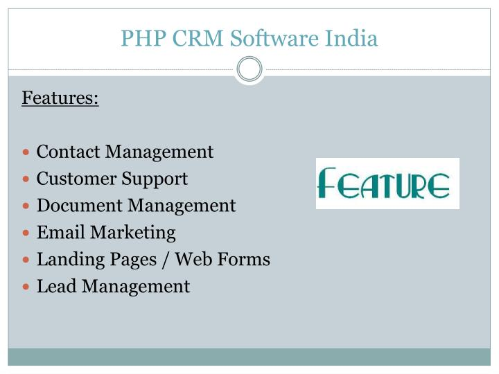 PHP CRM Software India