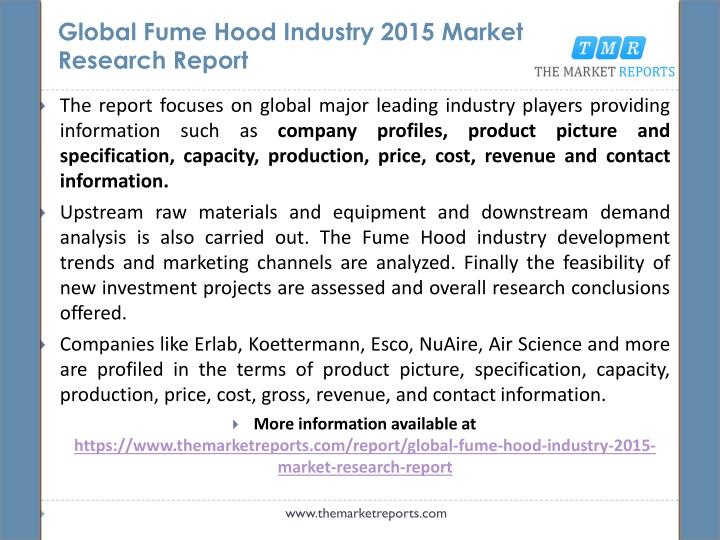 Global fume hood industry 2015 market research report1