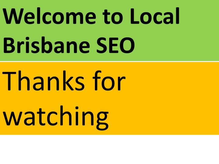 Welcome to Local Brisbane SEO
