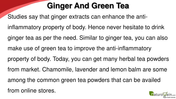 Ginger And Green Tea