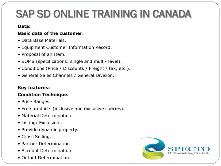SAP SD ONLINE TRAINING IN CANADA