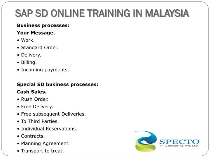 SAP SD ONLINE TRAINING IN MALAYSIA