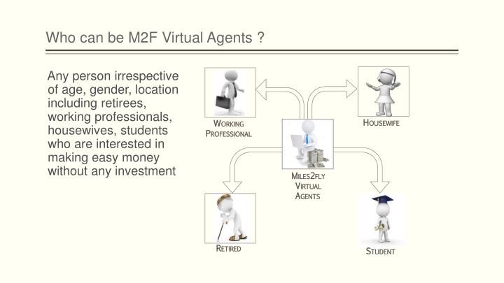 Who can be M2F Virtual Agents ?