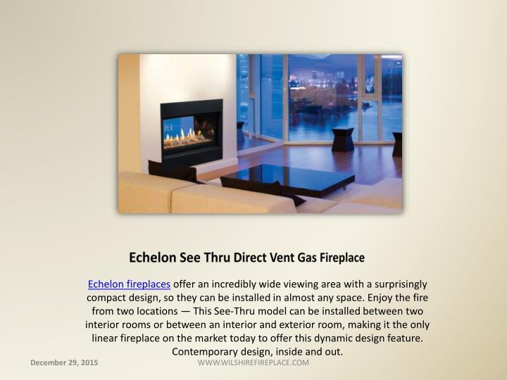 Echelon See Thru Direct Vent Gas Fireplace