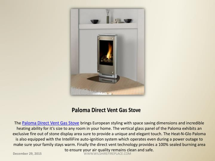 Paloma Direct Vent Gas Stove
