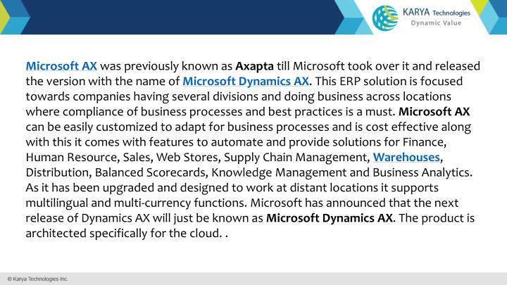 Microsoft AX