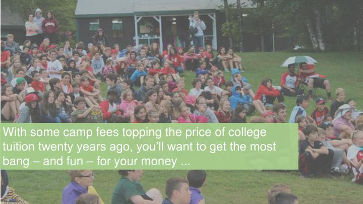 With some camp fees topping the price of college