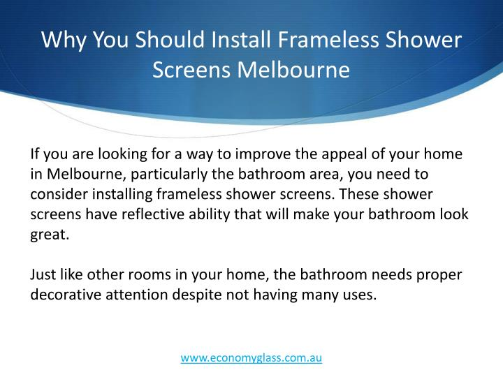 Why You Should Install Frameless Shower Screens Melbourne