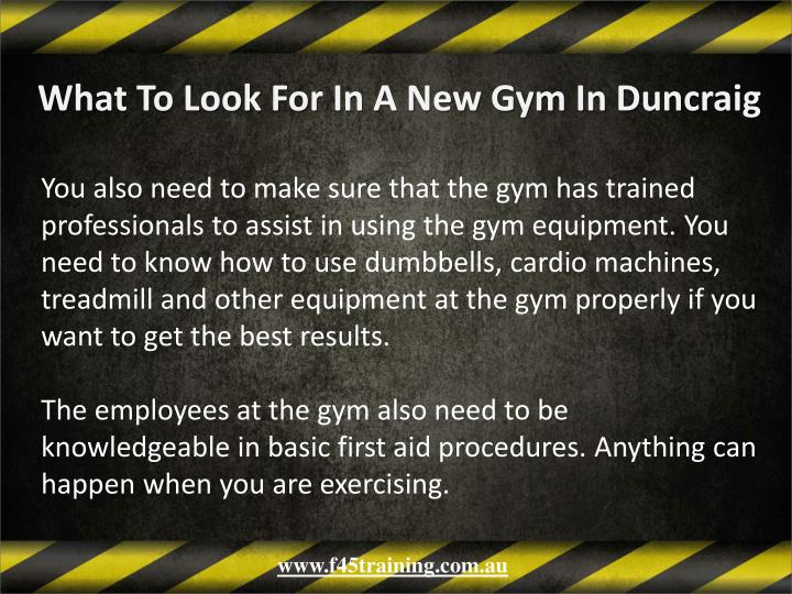 What To Look For In A New Gym In