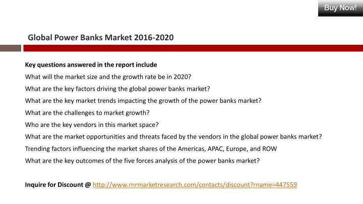Global Power Banks Market 2016-2020