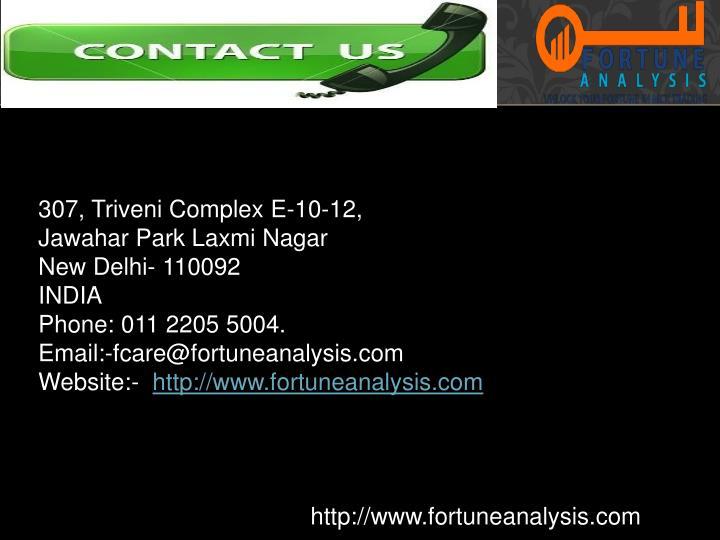 307, Triveni Complex E-10-12,