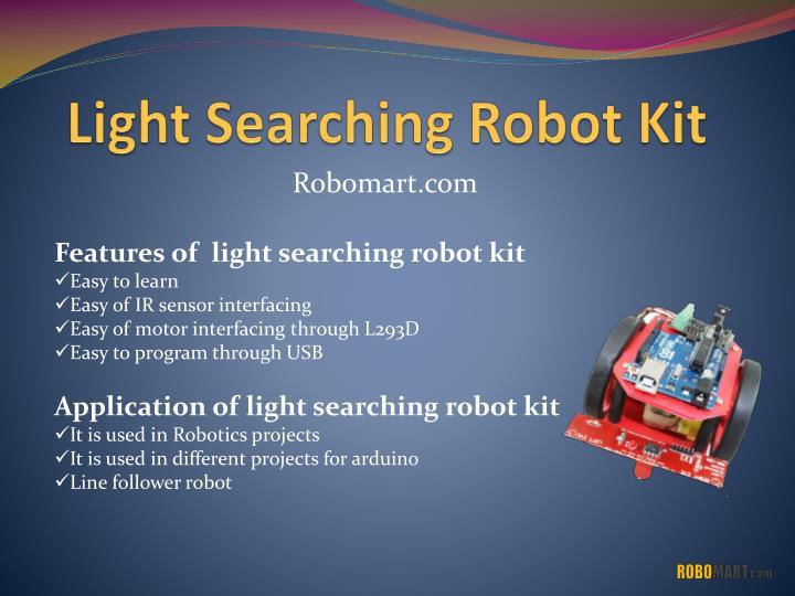 Light Searching Robot Kit