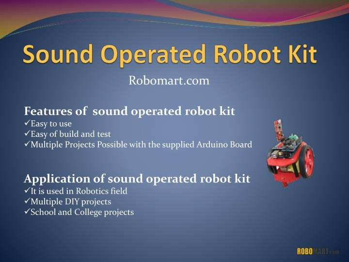 Sound Operated Robot Kit
