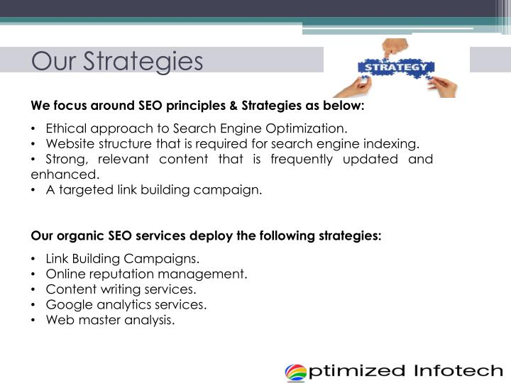 Our Strategies