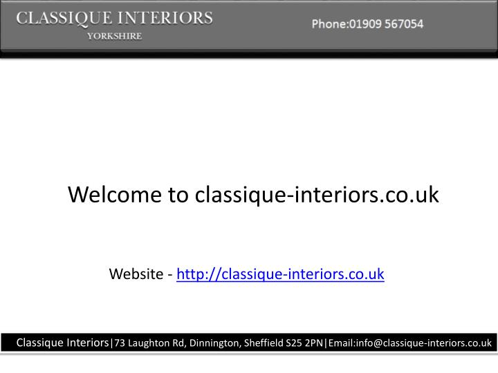 Welcome to classique-interiors.co.uk