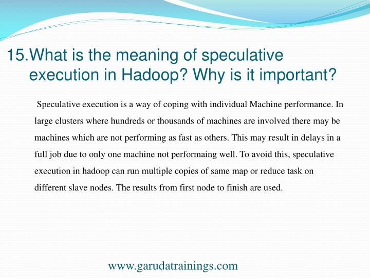 15.What is the meaning of speculative