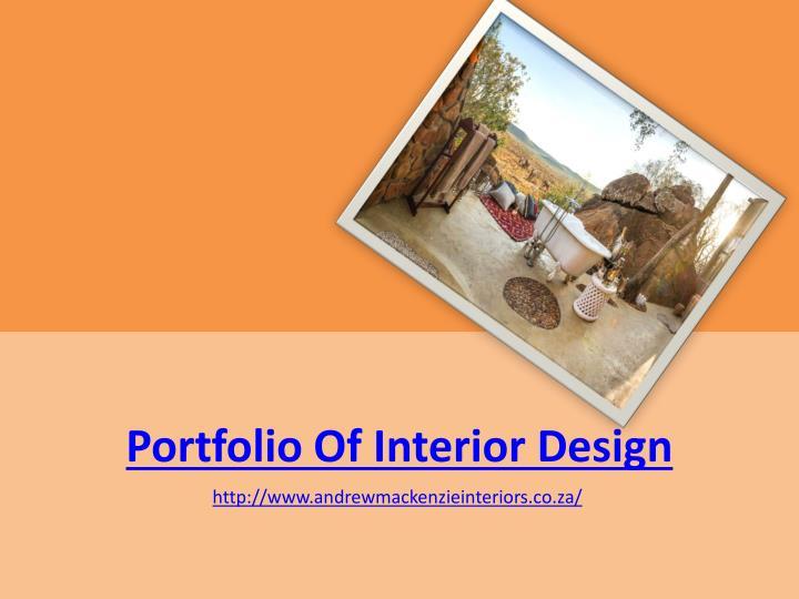 Portfolio Of Interior Design