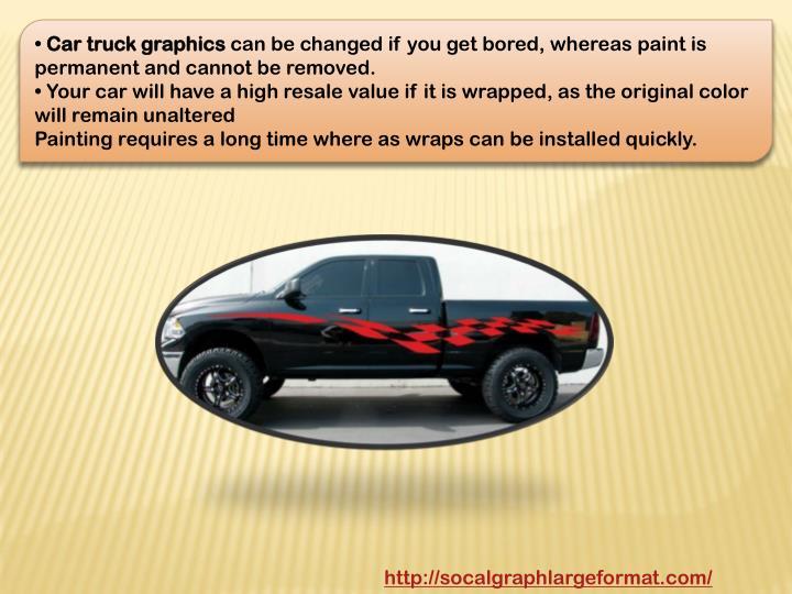 Car truck graphics