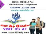 for more classes visit www iscom352help com1