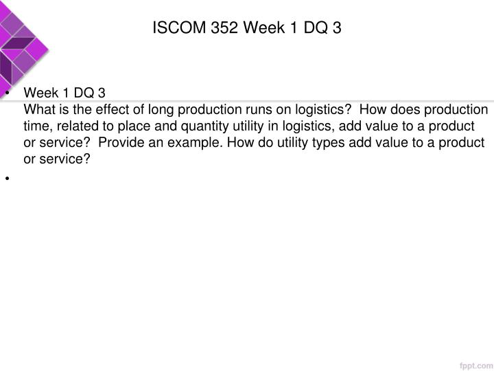 ISCOM 352 Week 1 DQ 3